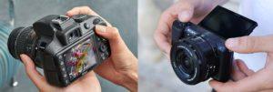 DLSR cameras vs Mirrorless cameras